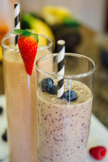 Sweet Bananas and Blueberry Bliss Smoothies